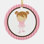 Bailarina pequena enfeites para arvores de natal