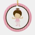 Bailarina pequena ornamentos para arvore de natal