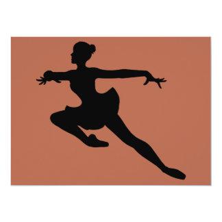 Bailarina (silhueta do dançarino de balé) ~. de convite 16.51 x 22.22cm