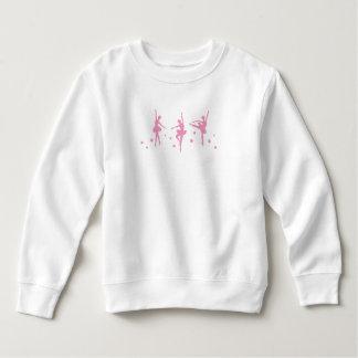 Bailarinas cor-de-rosa moletom