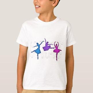 Bailarinas do dia do balé camiseta
