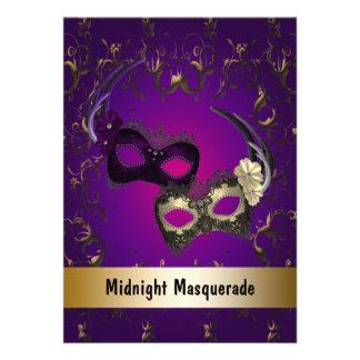 Baile de formatura do mascarada do carnaval convites personalizados