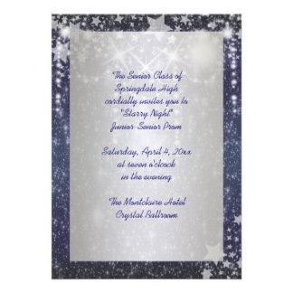 Baile de formatura elegante da noite estrelado dos convite personalizados