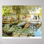 Bain de la Grenouillere de Les por Claude Monet Posteres