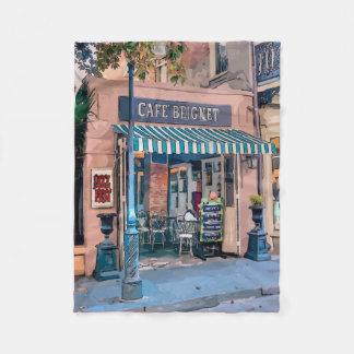 Bairro francês da cafetaria de Beignet do café Cobertor De Lã