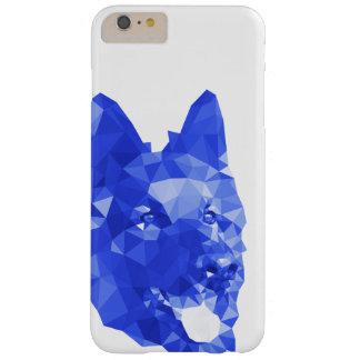 Baixa arte poli do german shepherd no azul capas iPhone 6 plus barely there
