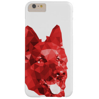 Baixa arte poli do german shepherd no vermelho capa barely there para iPhone 6 plus