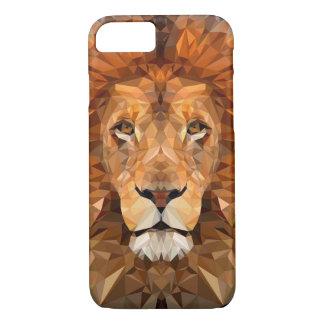 Baixa capa de telefone poli do leão