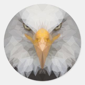 Baixa etiqueta poli da águia