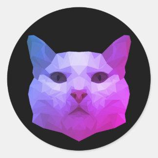 Baixa etiqueta poli do gato