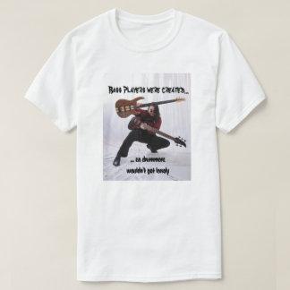 Baixistas para bateristas sós camiseta
