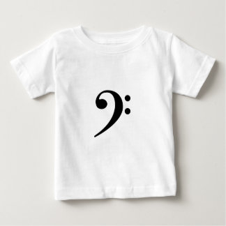 baixo-clef camiseta para bebê