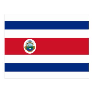 Baixo custo! Bandeira de Costa Rica Cartão Postal