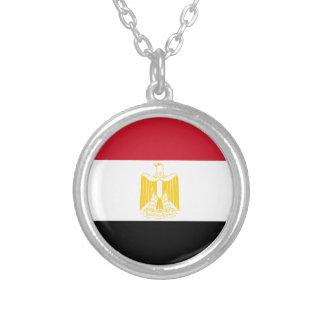 Baixo custo! Bandeira de Egipto Colar Banhado A Prata
