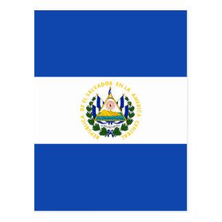 Baixo custo! Bandeira de El Salvador Cartão Postal