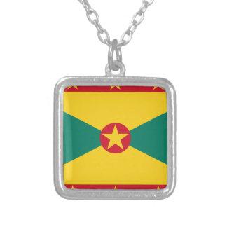 Baixo custo! Bandeira de Grenada Colar Banhado A Prata