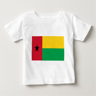 Baixo custo! Bandeira de Guiné-Bissau Camiseta Para Bebê