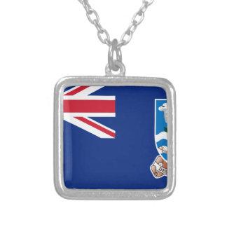 Baixo custo! Bandeira de Ilhas Falkland Colar Banhado A Prata