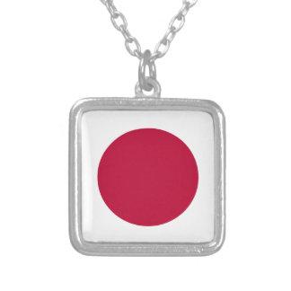 Baixo custo! Bandeira de Japão Colar Banhado A Prata