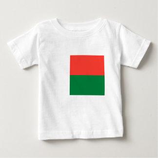 Baixo custo! Bandeira de Madagascar Camiseta Para Bebê