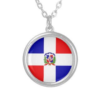 Baixo custo! República Dominicana Colar Banhado A Prata