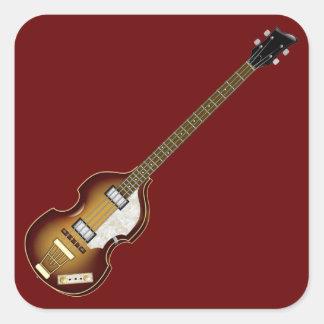 Baixo do violino adesivo em forma quadrada