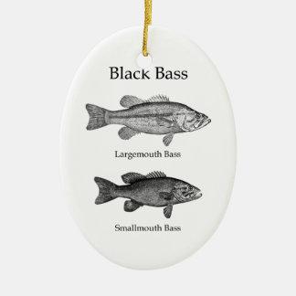 Baixo preto (linha arte) ornamentos