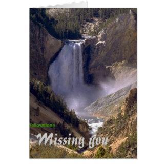 Baixo-Queda-Yellowstone, faltando o cartão