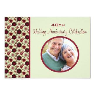 Baja - convite do aniversário de casamento da foto