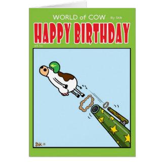 Bala de canhão bovina cartão comemorativo