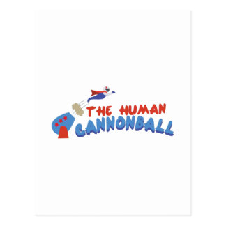 Bala de canhão humana cartão postal
