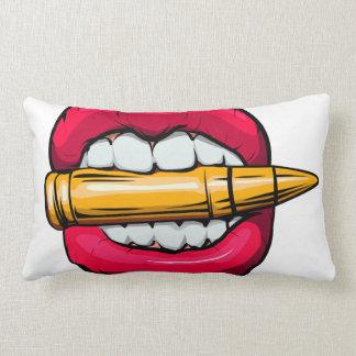 bala na boca almofada lombar