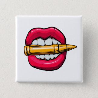bala na boca bóton quadrado 5.08cm