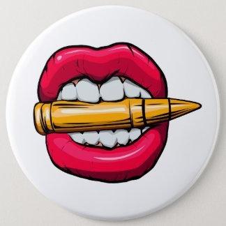 bala na boca bóton redondo 15.24cm
