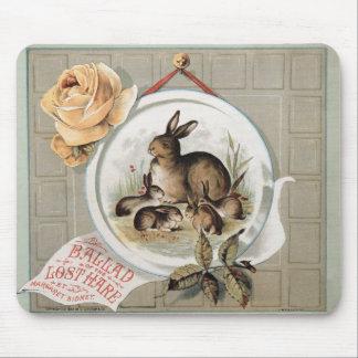 Balada dos coelhos do vintage da lebre perdida mouse pad