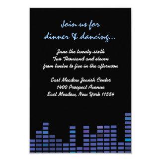 Balance o cartão da recepção do partido de Mitzvah Convite 8.89 X 12.7cm