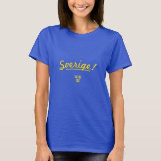 Balance sua linha da nação - Sverige! (Suecia) Camiseta