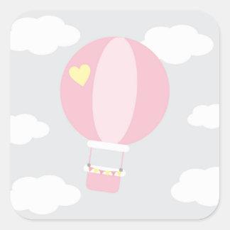 balão adesivo quadrado
