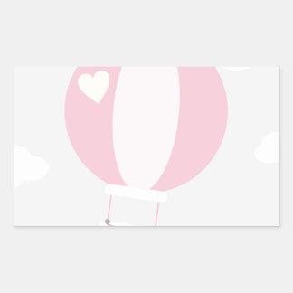 balão adesivo retangular