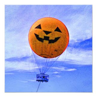 balão da lanterna do jaque-o' convite quadrado 13.35 x 13.35cm
