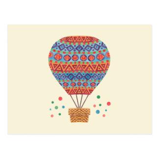Balão de ar quente cartão postal