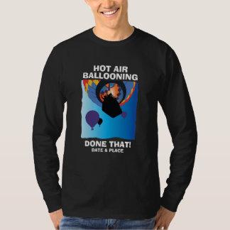 Balão de ar quente da lembrança: Data/lugar Tshirt