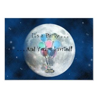 Balão de ar quente de Steampunk Convite 8.89 X 12.7cm