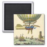 Balão de ar quente de Steampunk da ficção científi Imãs De Geladeira