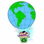 Balão de ar quente do Dia da Terra Escultura De Foto