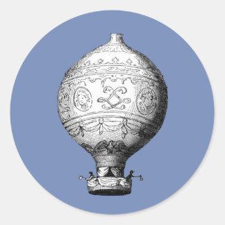 Balão de ar quente do vintage de Montgolfier Adesivo Redondo
