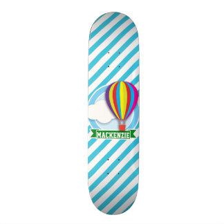 Balão de ar quente; Listras azuis & brancas Skates