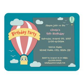 Balão de ar quente Papercut do convite do