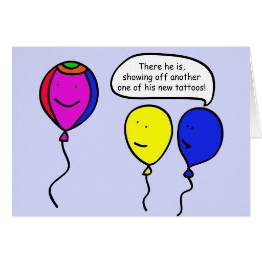 Balão do tatuagem cartão