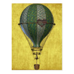 Balão do Victorian de Steampunk Cartão Postal